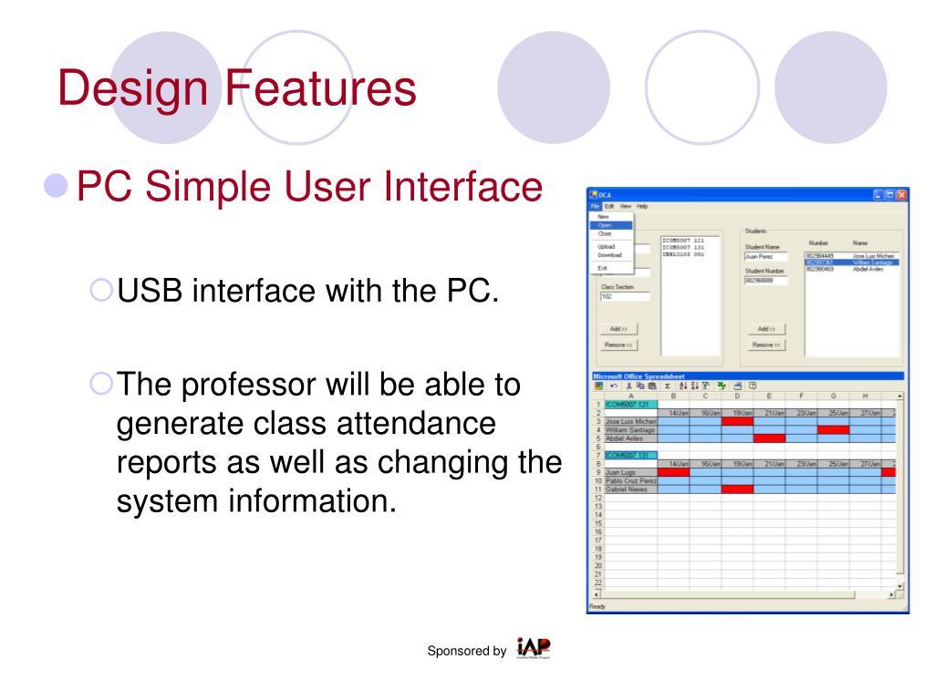 Design Features