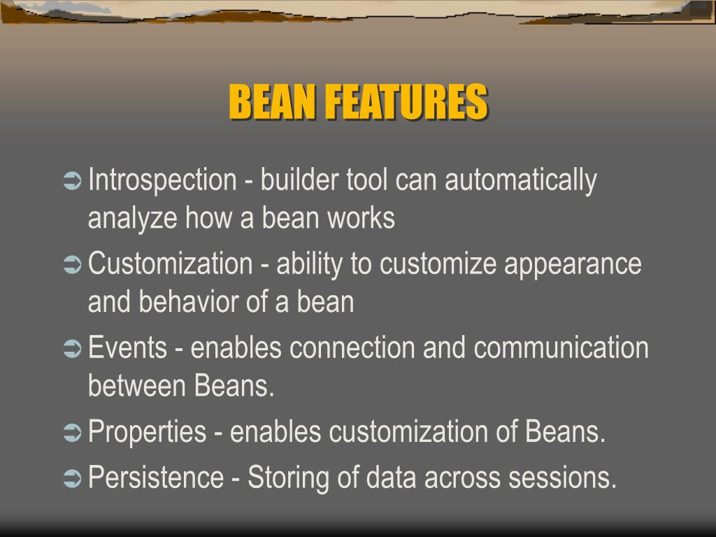 BEAN FEATURES