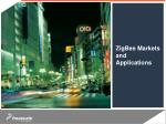 zigbee markets and applications