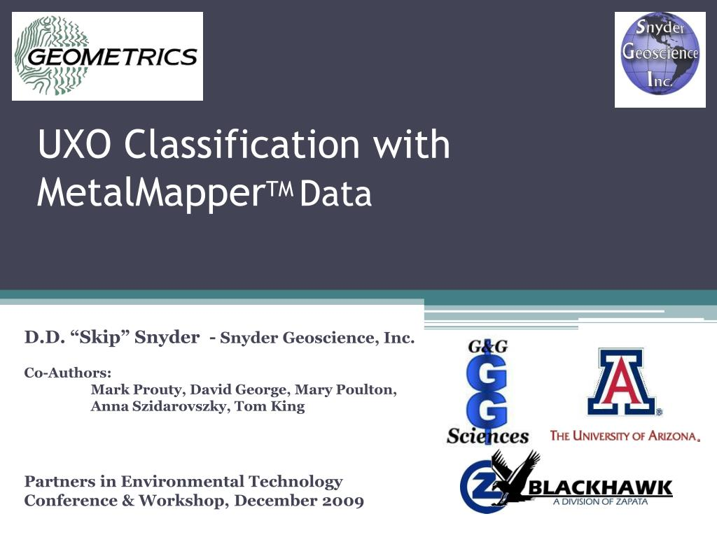 uxo classification with metalmapper tm data l.