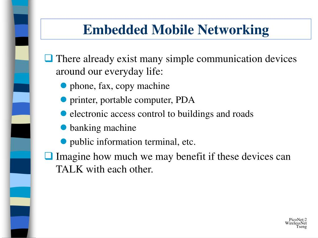 Embedded Mobile Networking