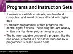 programs and instruction sets