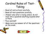 cardinal rules of test taking