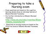 preparing to take a nursing exam