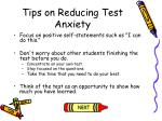 tips on reducing test anxiety113
