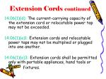 extension cords continued