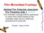 fire retardant coatings