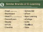 similar brands of e learning