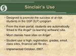 sinclair s use