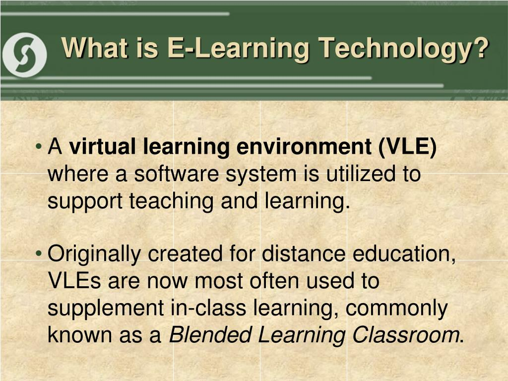 What is E-Learning Technology?
