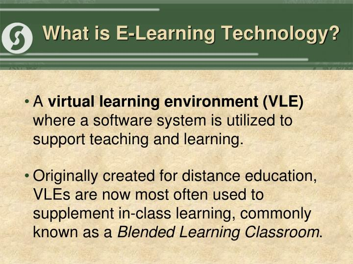 What is e learning technology