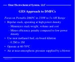ges approach to dmfcs