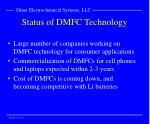 status of dmfc technology