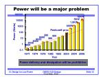 power will be a major problem