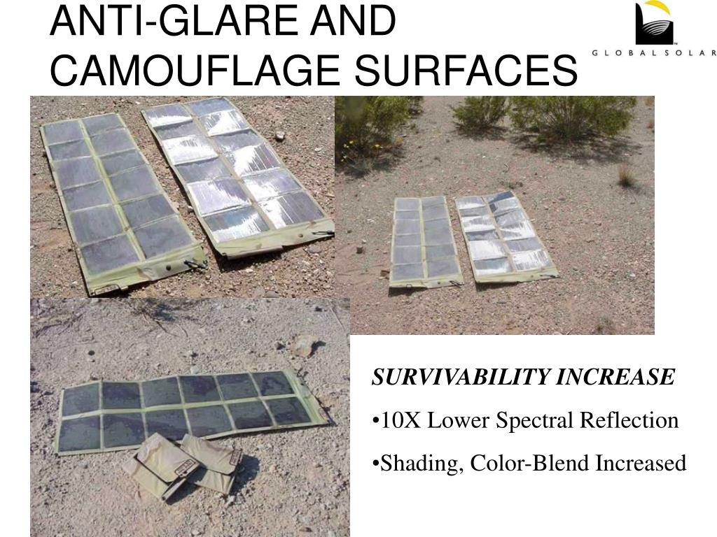 ANTI-GLARE AND CAMOUFLAGE SURFACES