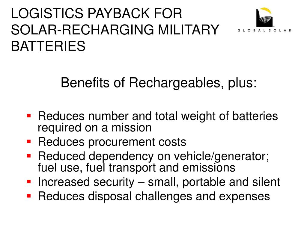 LOGISTICS PAYBACK FOR