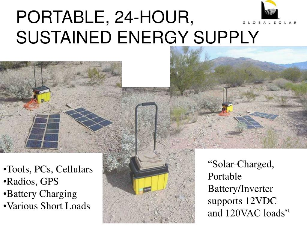 PORTABLE, 24-HOUR, SUSTAINED ENERGY SUPPLY