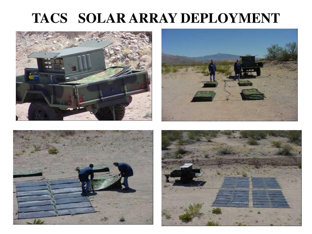 TACS   SOLAR ARRAY DEPLOYMENT