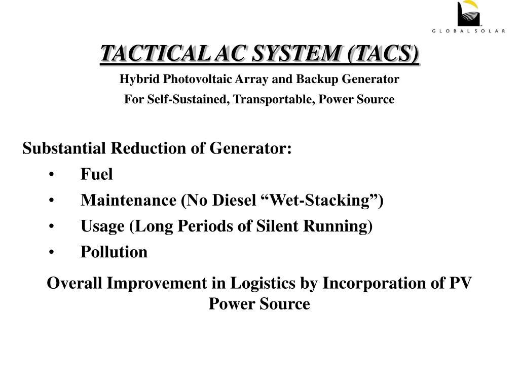 TACTICAL AC SYSTEM (TACS)