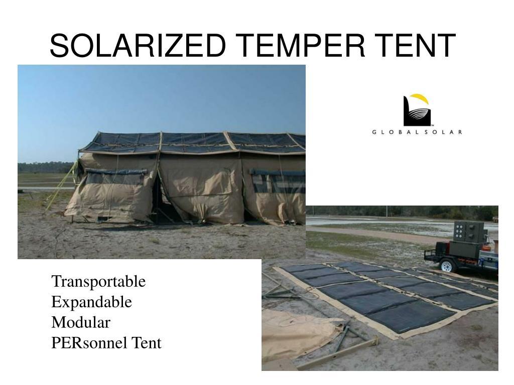 SOLARIZED TEMPER TENT