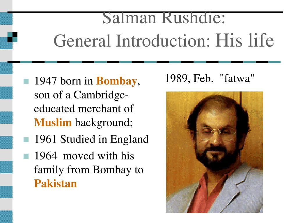 """postcolonial theme in salman rushdies  Rushdie and reclaimed identity: a postcolonial analysis of """"salman rushdie"""" world literatures portfolio theme v5 from organic themes rss."""