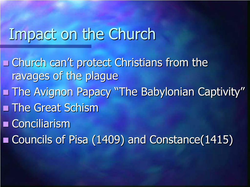 Impact on the Church