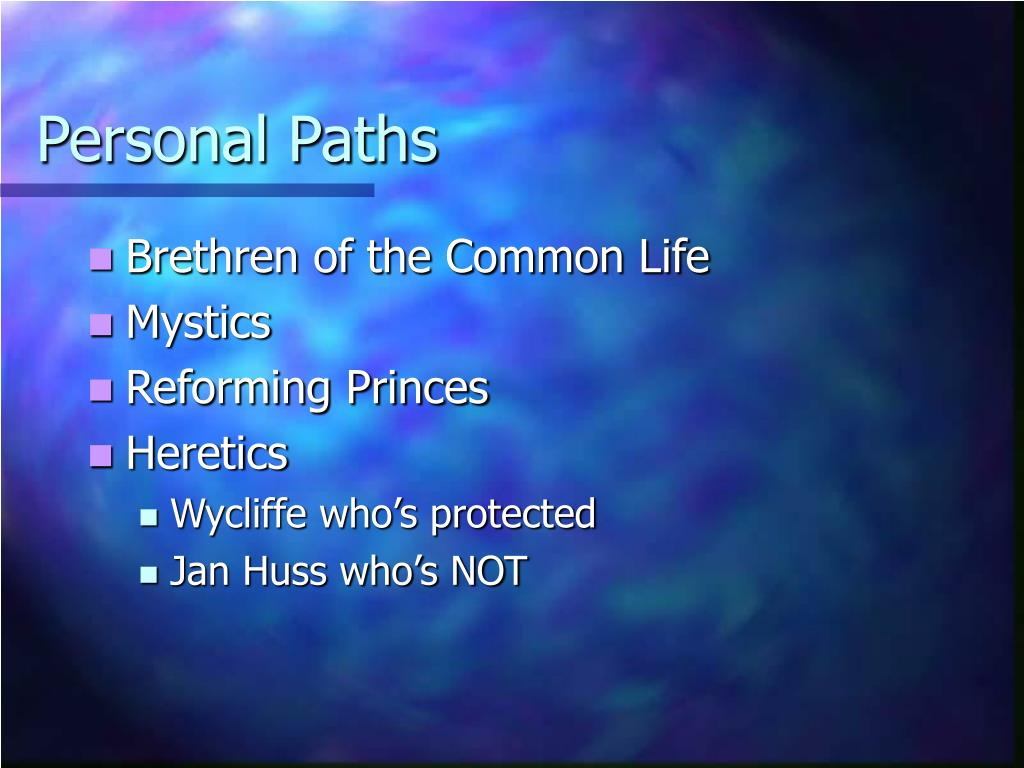 Personal Paths