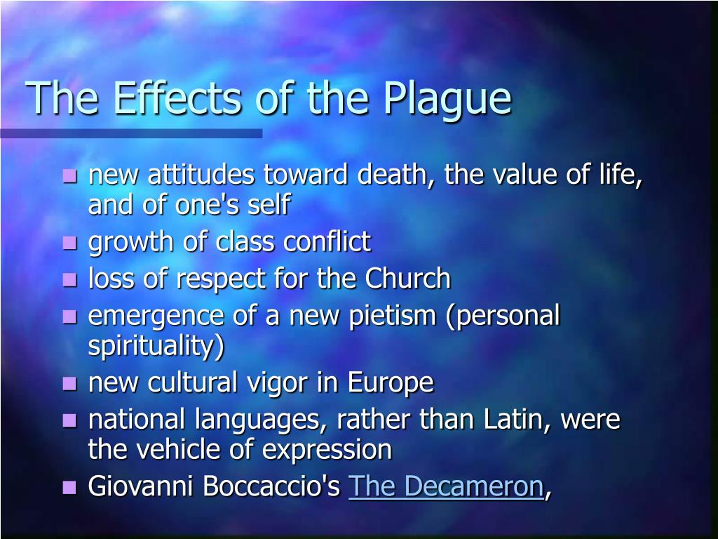 The Effects of the Plague