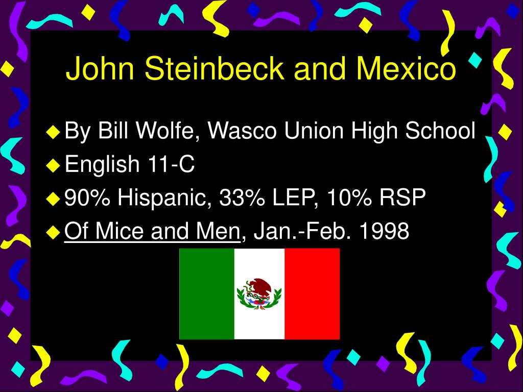 john steinbeck and mexico l.