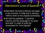 steinbeck s love of spanish