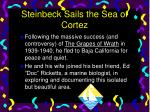 steinbeck sails the sea of cortez