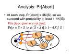 analysis pr abort18