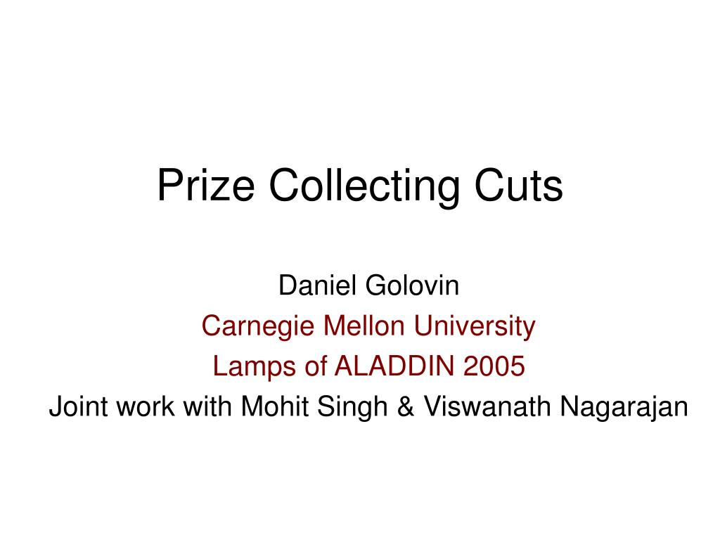 prize collecting cuts l.