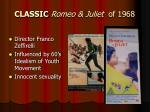 classic romeo juliet of 1968
