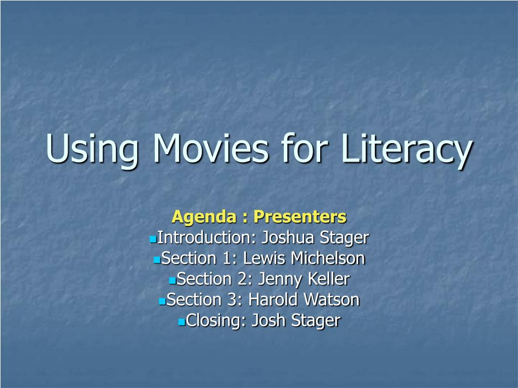 using movies for literacy l.