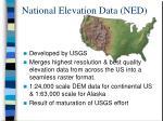 national elevation data ned