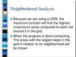 neighborhood analysis30