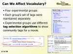 can we affect vocabulary