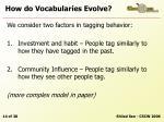 how do vocabularies evolve