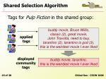 shared selection algorithm