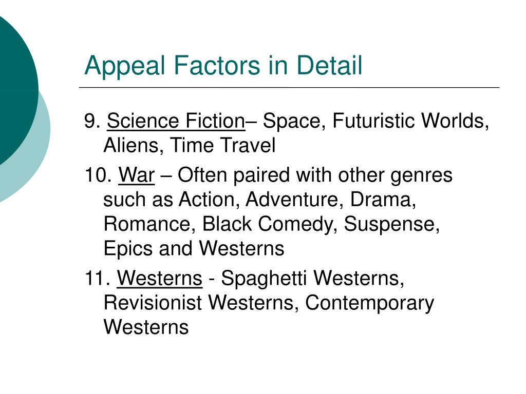 Appeal Factors in Detail
