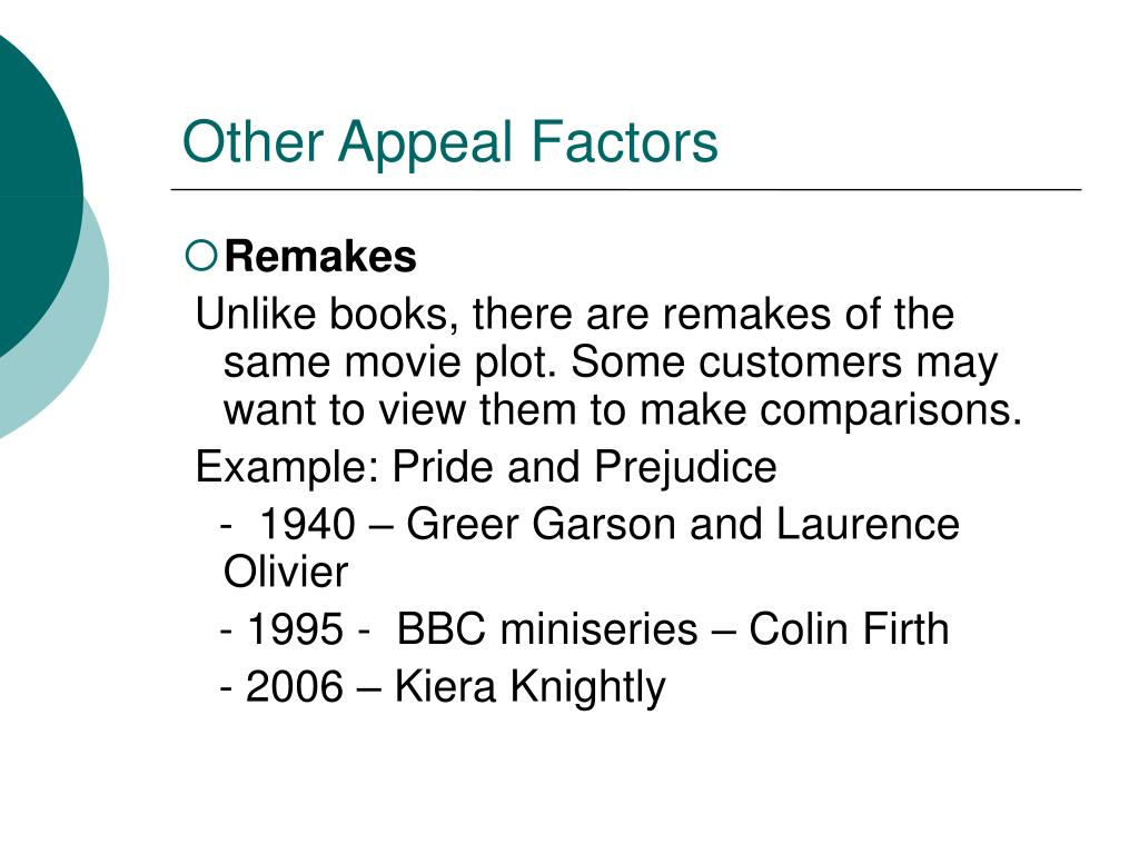 Other Appeal Factors