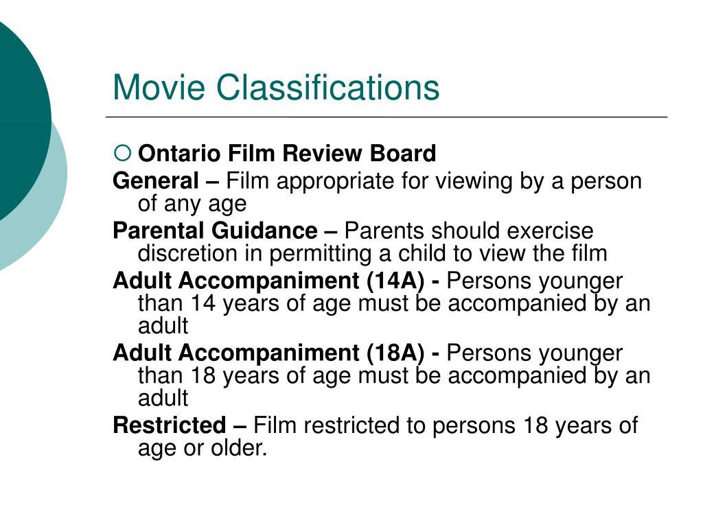 Movie Classifications