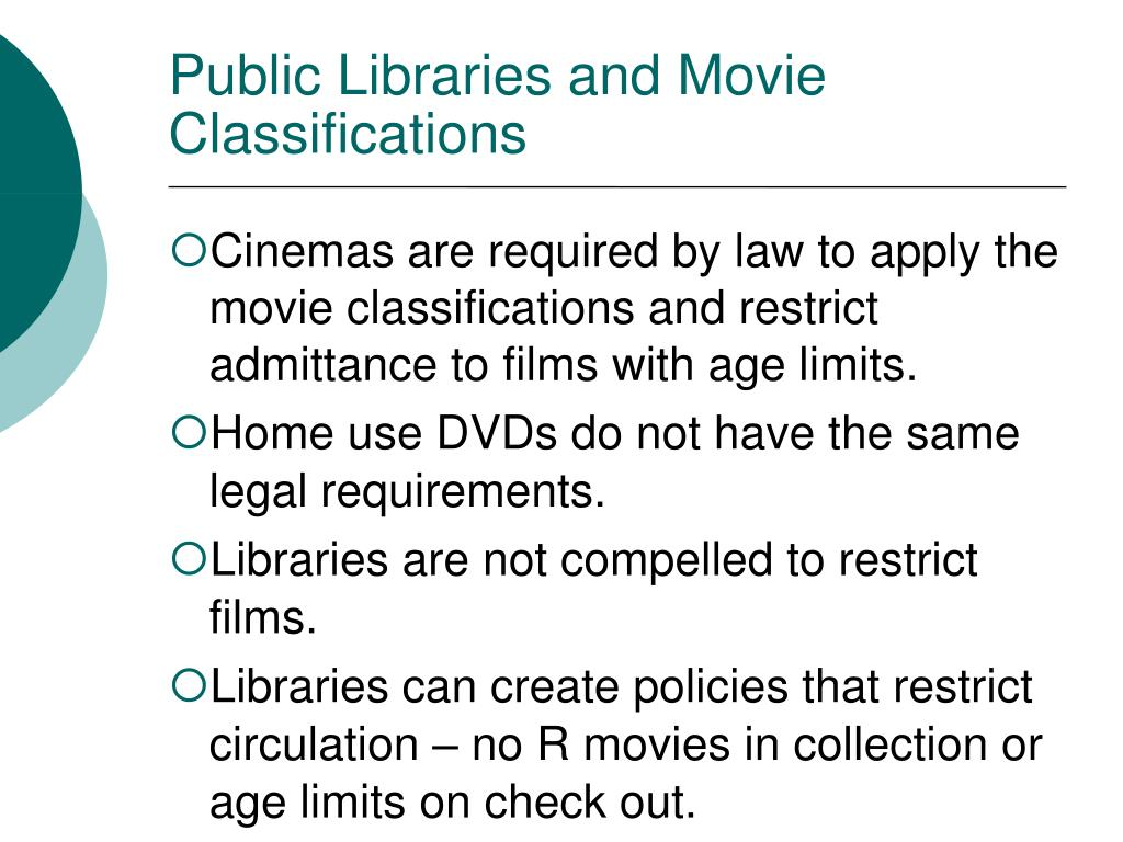 Public Libraries and Movie Classifications