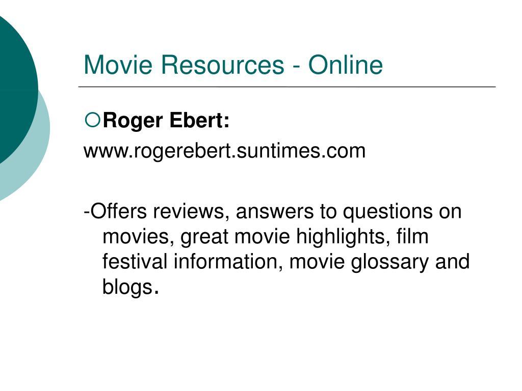 Movie Resources - Online