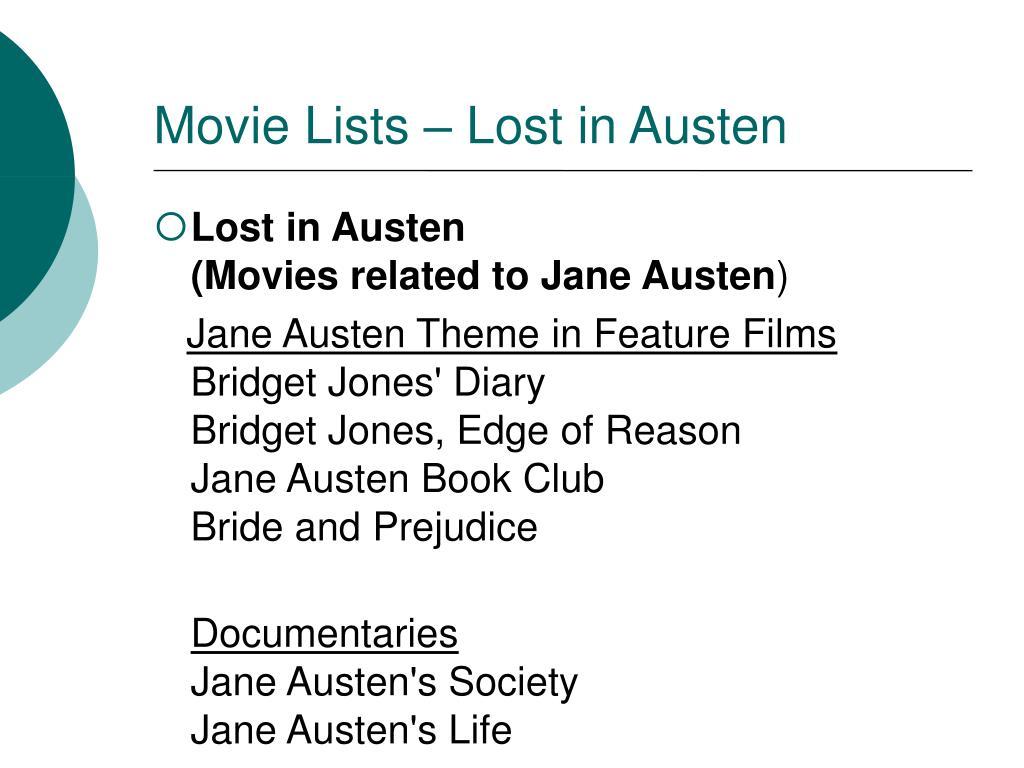 Movie Lists – Lost in Austen