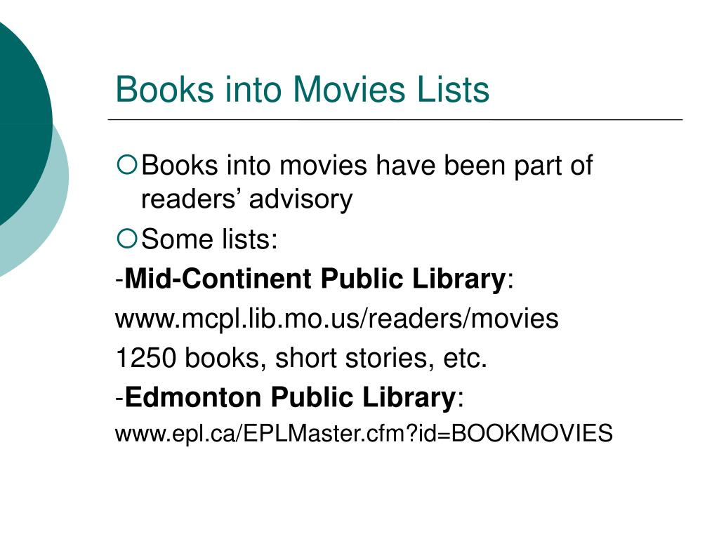 Books into Movies Lists