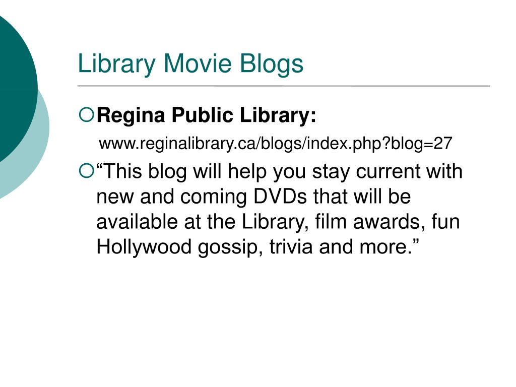 Library Movie Blogs