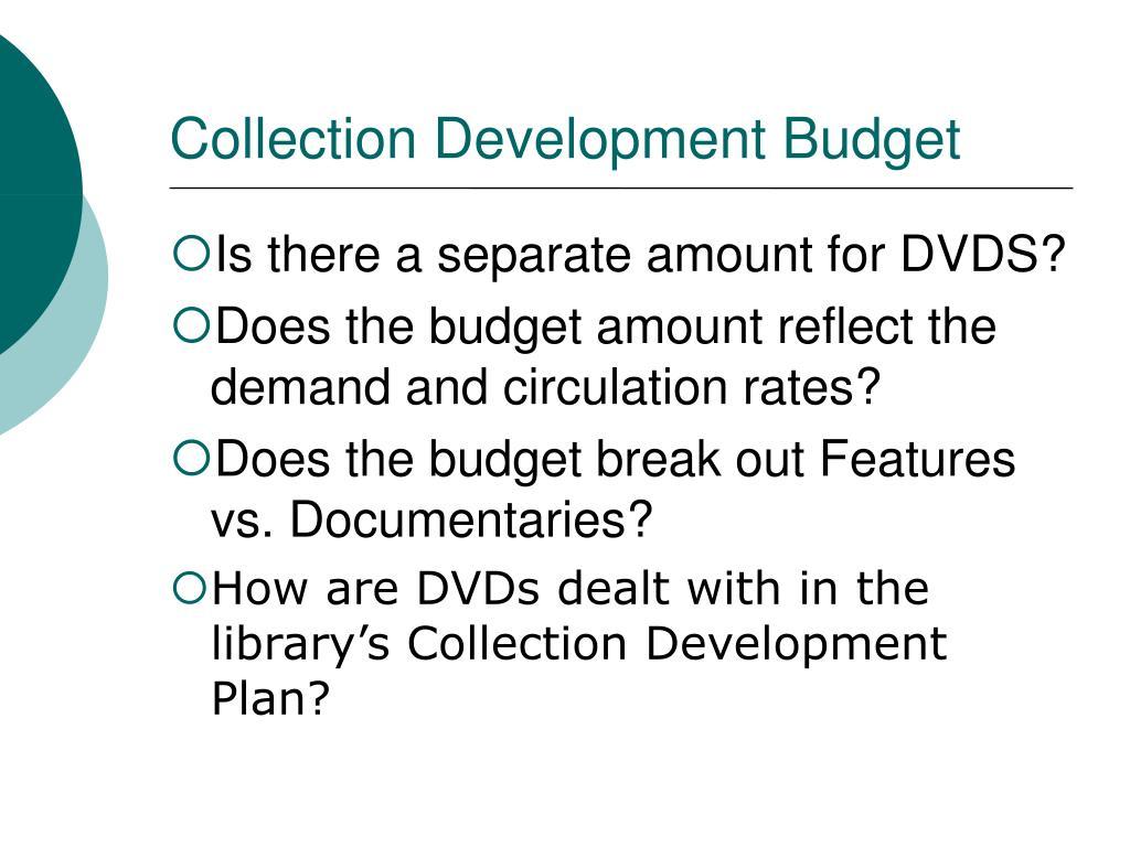 Collection Development Budget