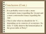 conclusion cont